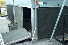 Prevent air filter intake screen with chiller enclosure