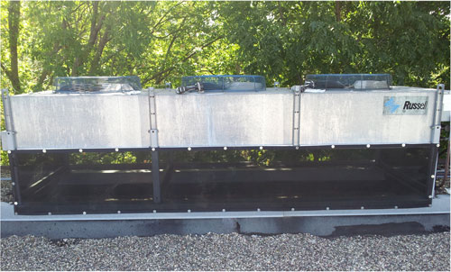 russell air cooled condense using custom air filters
