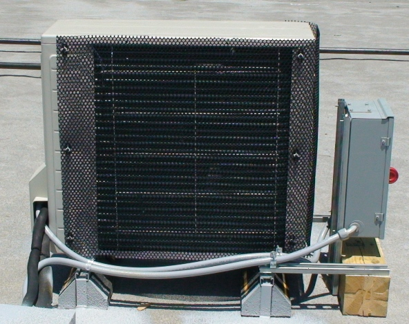 hail-guard-daikin-mini-split-closeup