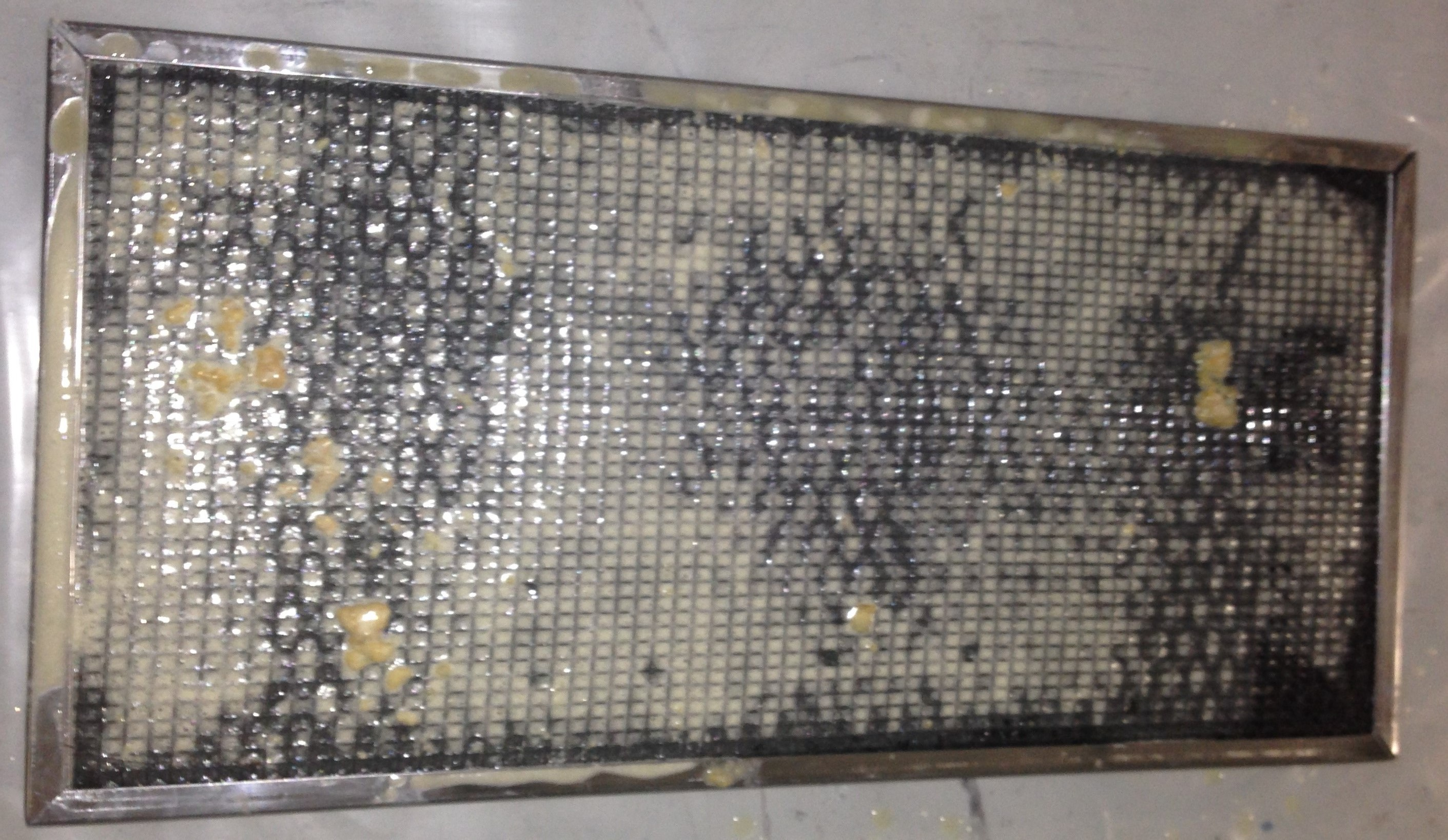 dirty coalescing air filter
