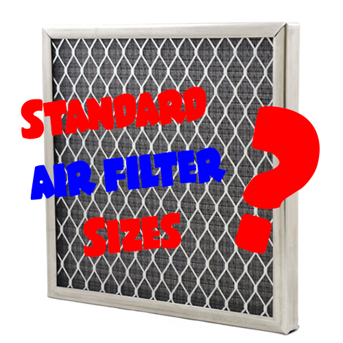 what are standard air filter sizes?