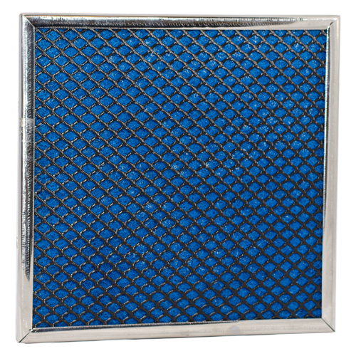 Rigid netting air filter media