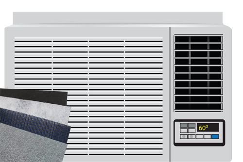 Wall Window Air Conditioner Air Filter