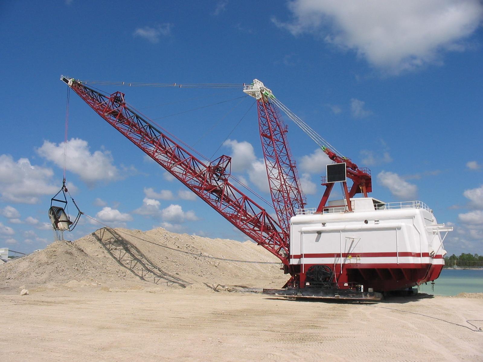 Tractors Air Filter Real Life : Rock quarry dragline equipment