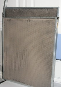 Dirty furnace air filter