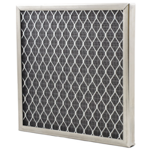 a photo of an electrostatic air filter for a furnace
