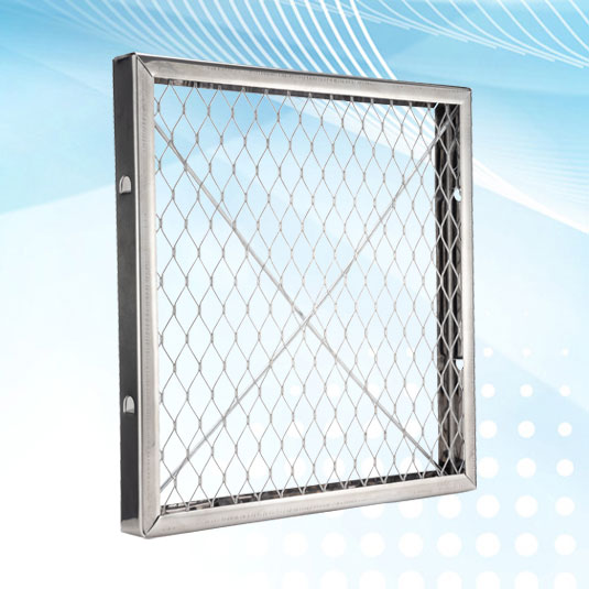 Air Filter Pad Stabilizing Frame