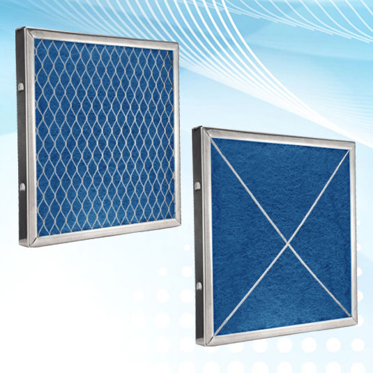 Air Filter Pad Stabilizing Frame with PermaFlo