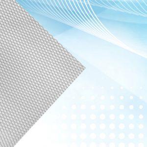 flat aluminum mesh