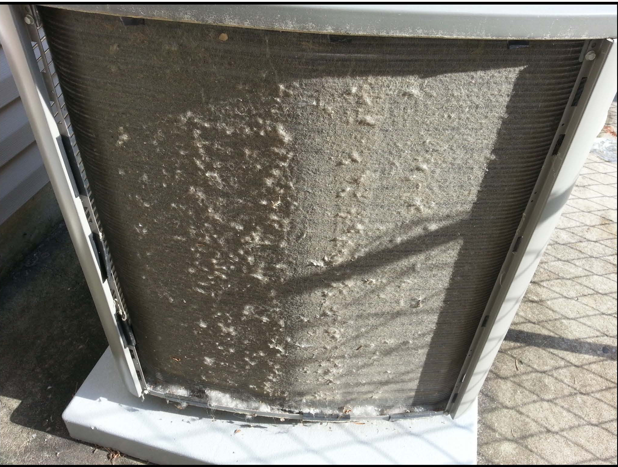 Outdoor Condensing Units Get Clogged with Debris