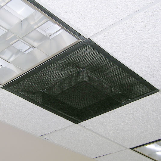 PreVent Diffuser Installed on Drop Down Ceiling Vent