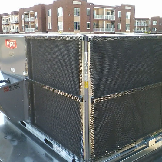 HailStop Installed on Bryant Roof Top Unit