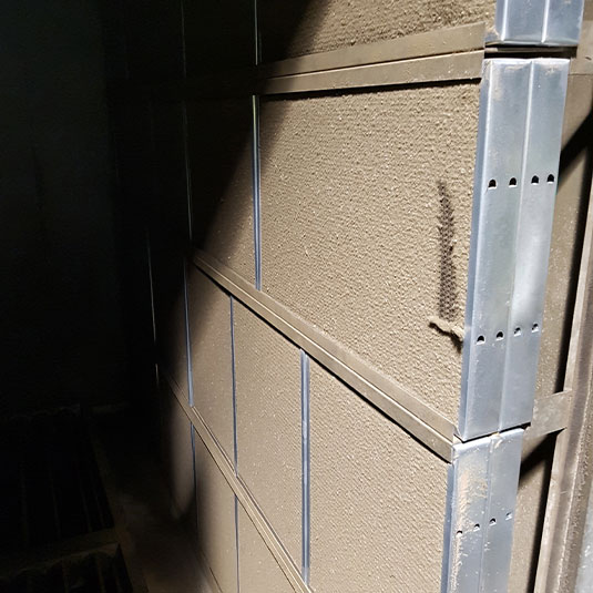 Model HFA Installed in Filter Bank Captures Dirt