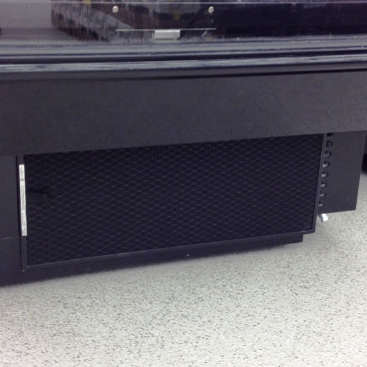 PreVent Installed on Cooled Display Case