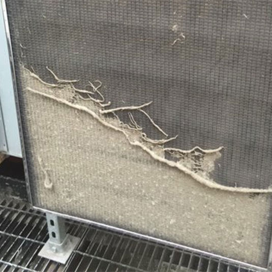PreVent Filter Captures Dirt