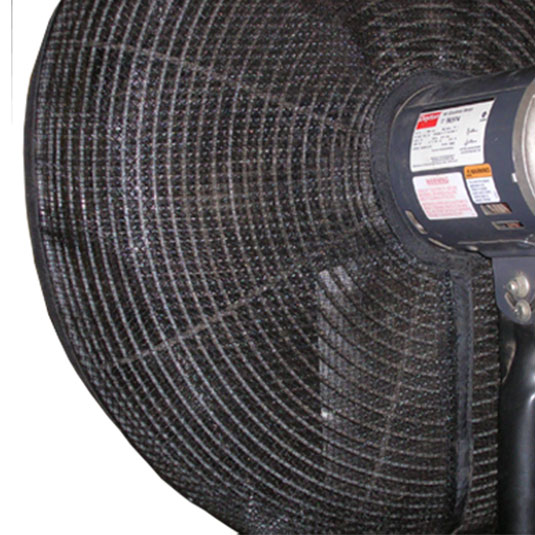 PreVent Fan Guard Installed on Pedestal Fan
