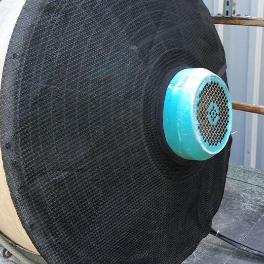 PreVent Fan Guard Installed on Industrial Fan