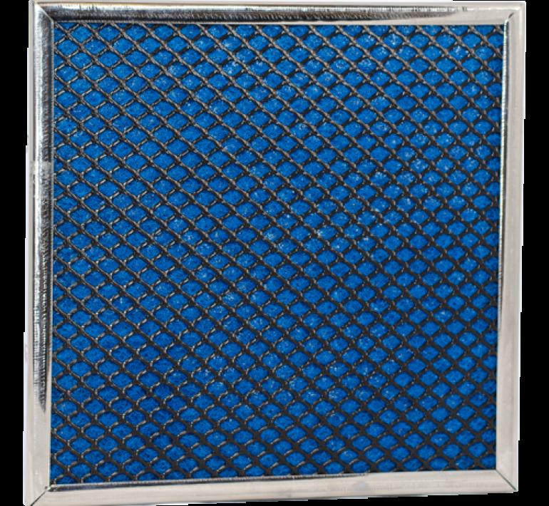 Rigid netting air filter media