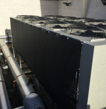 Data Center Chiller Coils Protected from Construction Dust