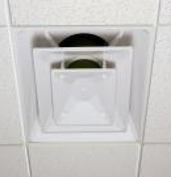 Ceiling Vent Air Diffuser Filter Captures Dust In Office