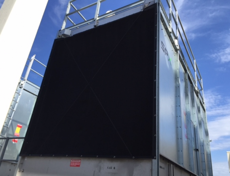 cooling tower protected with PreVent screen