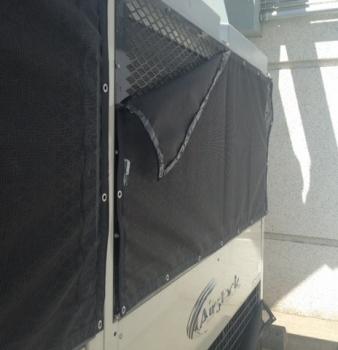 Hard to Reach Air-Handler Air Intakes Blocked By Debris