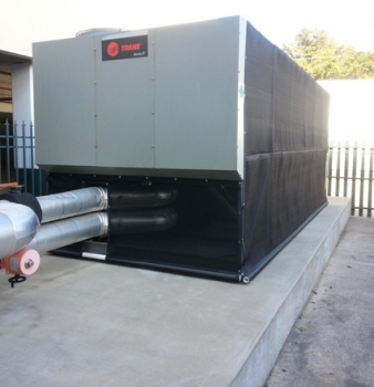 Laundry Exhaust and Cottonwood Clog Trane Chillers